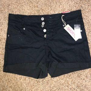 Rue 21 Black High Waisted Shorts
